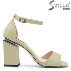 Sandale dama de culoare verde cu toc inalt - 36643