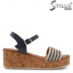 Sandale dama  model spaniol cu platforma  - 36685