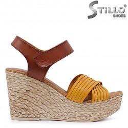 Sandale dama cu platforma din piele naturala – 36693