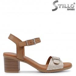 Sandale dama cu toc din piele naturala – 36702
