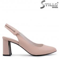 Sandale dama cu partea din fata acoperita si cu toc - 36715