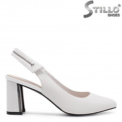 Sandale dama cu toc reliefat - 36723