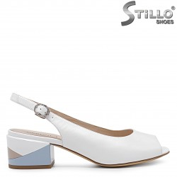 Sandale  cu toc jos colorat - 36734