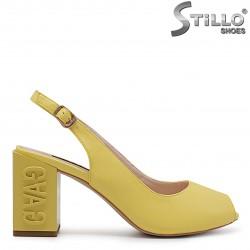 Sandale de culoare galben cu toc modern - 36771