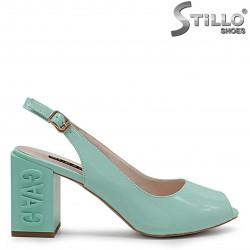 Sandale dama de culoare menta cu toc  - 36772