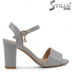 Sandale dama de culoare gri cu toc – МАRIMI  MICI- 36774