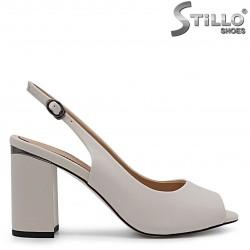 Sandale elegante cu pietricele la toc – 36775