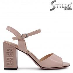 Sandale dama cu toc inalt  de culoare bej – 36782