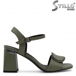 Sandale dama de culoare verde si cu toc inalt  - 36788
