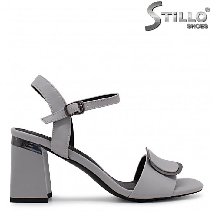 Sandale dama de culoare gri cu toc inalt – 36789