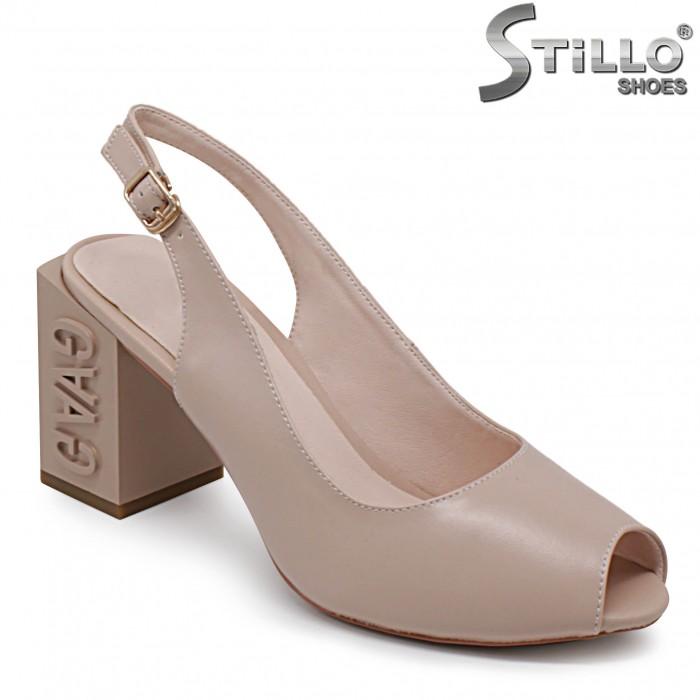 Sandale dama cu toc gros - 36790