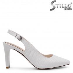 Pantofi decupati cu toc si imprimanta tip sarpe – 36817