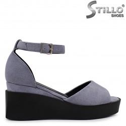 Sandale dama din velur cu platforma – 36825