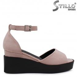 Sandale dama de culoare roz cu platforma – 36826
