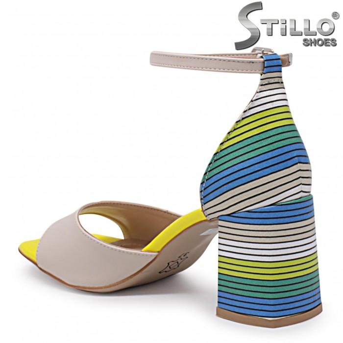 Sandale dama cu toc colorat – 36870