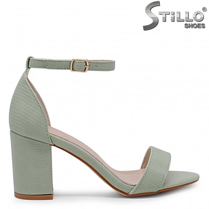 Sandale dama cu toc inalt si cu stampa croco – 36874