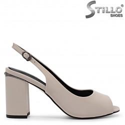 Sandale dama elegante cu pietricele la toc – 36884