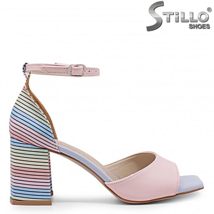 Sandale dama cu toc multicolor – 36897