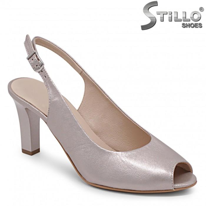 Sandale  din piele naturala de culoare auriu – 36899