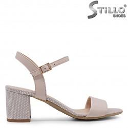 Sandale dama din piele naturala si cu toc – 36901