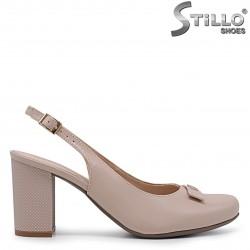 Pantofi dama din piele naturala si cu partea din spate decupata – 36902