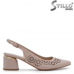 Pantofi de vara din piele naturala si cu perforatie – 36903