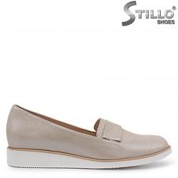 Pantofi dama cu talpa dreapta din piele naturala de culoare auriu – 36904