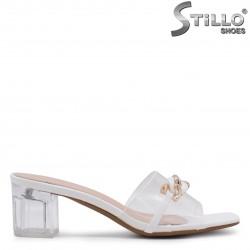Papuci dama din silicon cu toc  – 36905