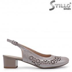 Pantofi de vara cu perforatie din piele naturala -  36907