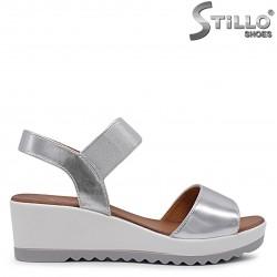 Sandale dama argintii cu platforma  – 36920