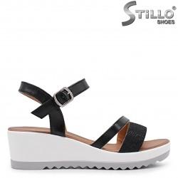 Sandale dama cu brocart si cu platforma – 36922