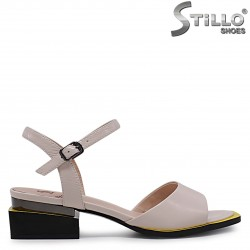 Sandale bej din piele naturala si cu toc jos – 36964