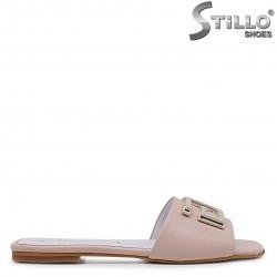 Papuci de culoare roz din piele naturala – 36973
