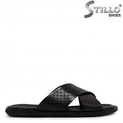 Papuci barbati din piele naturala – 36974