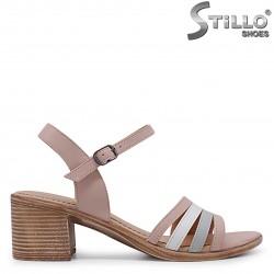 Sandale cu toc mijlociu din piele naturala – 36976