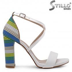 Sandale dama cu toc multicolor  – 36978