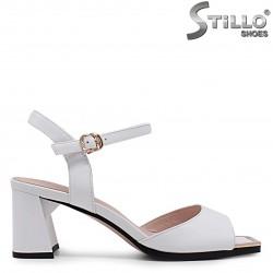 Sandale dama din piele naturala si cu varf suprapus – 36982