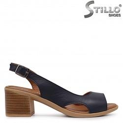 Sandale dama de culoare albastru din piele naturala - 37001