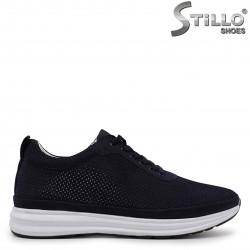 Pantofi sport barbati din nubuc de culoare albastru si cu perforatie – 37004