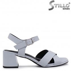 Sandale albastre cu toc mijlociu – 37038