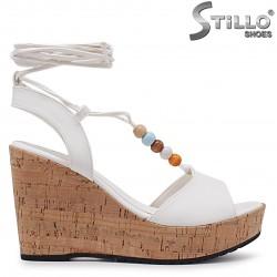 Sandale cu platforma cu sireturi la glezna – 37052