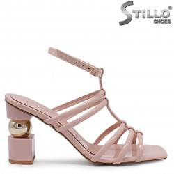 Sandale moderne cu curelusa si cu toc inalt – 37053