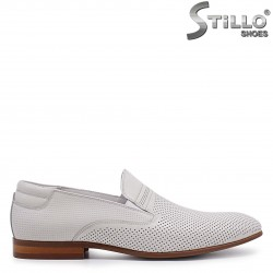 De la nr 39 - pantofi barbati de vara din piele naturala de culoare  bej – 37069