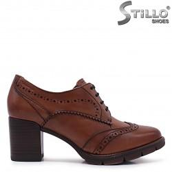 Pantofi dama maro model TAMARIS сu sireturi si toc – 37094