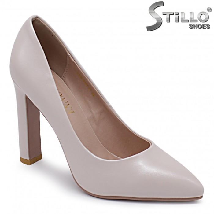 Маrimi mici – Pantofi dama de culoare bej si cu toc inalt – 37095