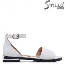 Sandale dama de culoare alb din piele naturala – 37116
