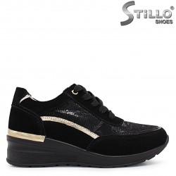 Sneakers dama din piele naturala si cu imprimanta tip sarpe – 37153