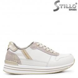 Sneakers dama  din piele naturala de culoare bej – 37156