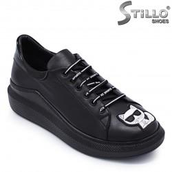 Pantofi sport de damă din piele naturală - 37177