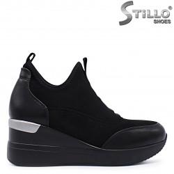 Sneakers dama din velur si cu platforma - 37223